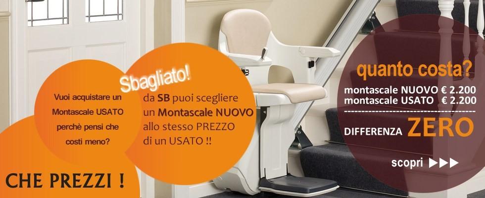 Montascale per disabili in promozione prezzi 50 for Montascale usato