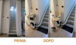 Installazione Montascale prima e dopo - Installazione Montascale prima e dopo